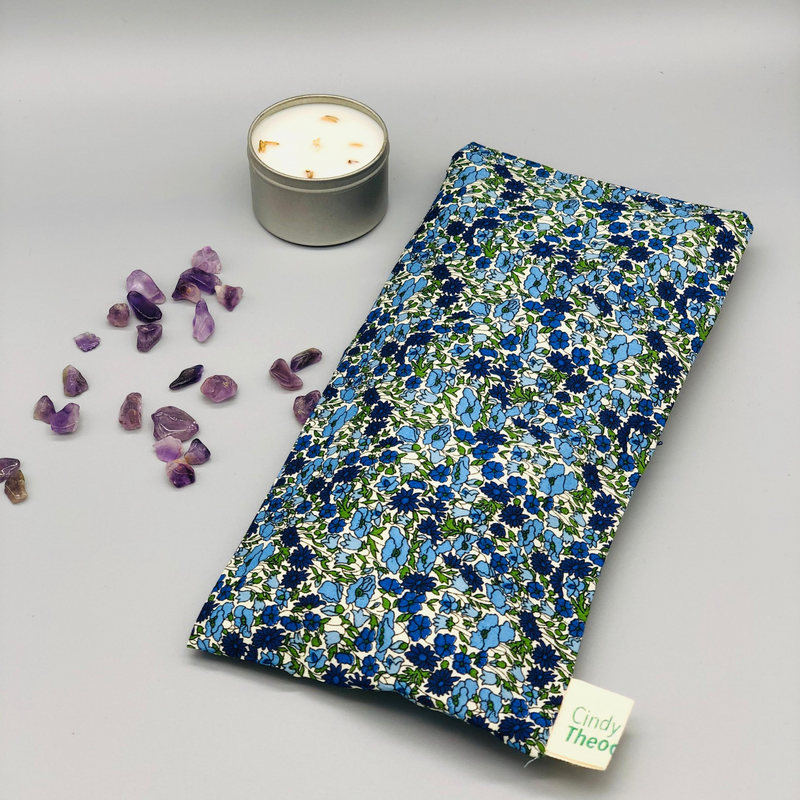 Amethyst Crystal Healing Eye Pillows- Petal and Bud Liberty London