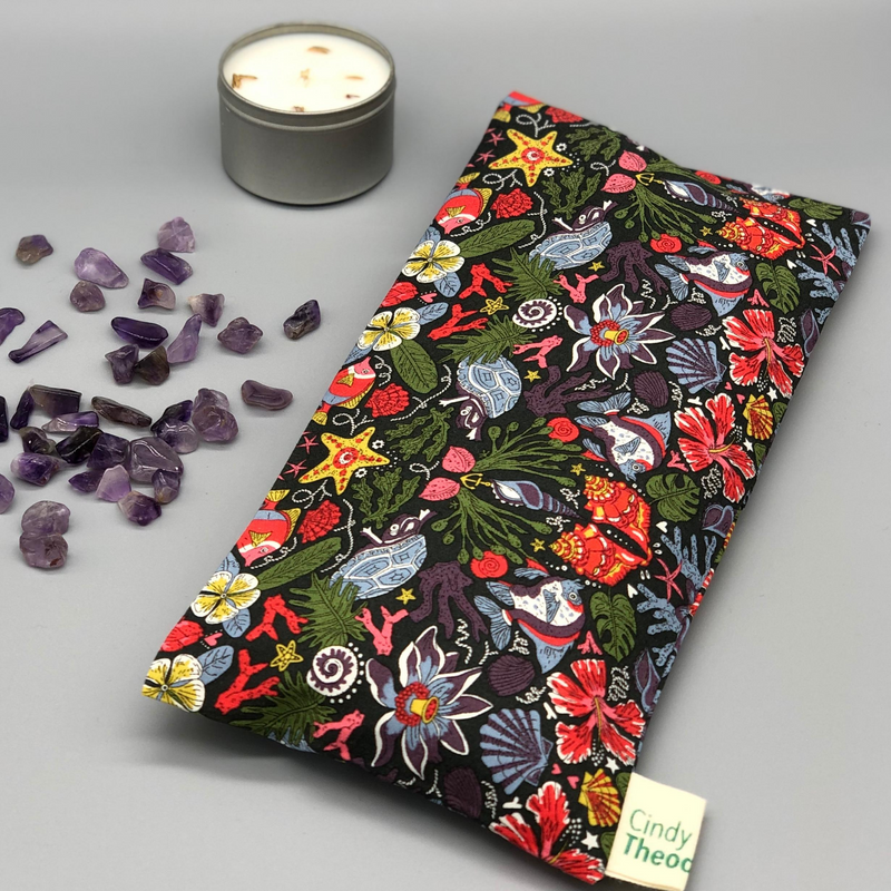 Amethyst Crystal Healing Eye Pillows- Turtle thief – Liberty London