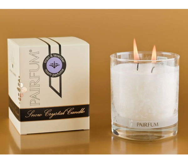 Linen & Lavender Snow Crystal Wax Candle