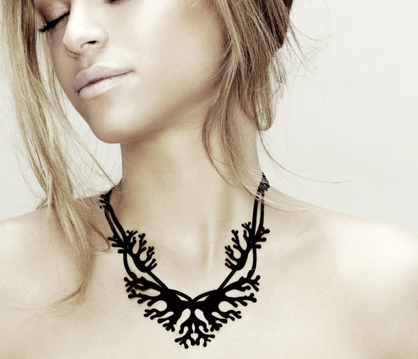 Coral Necklace. Black