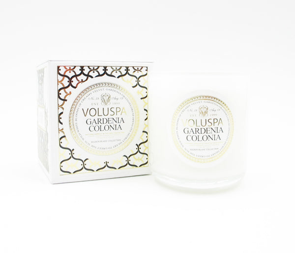 Gardenia Colonia Glass Candle