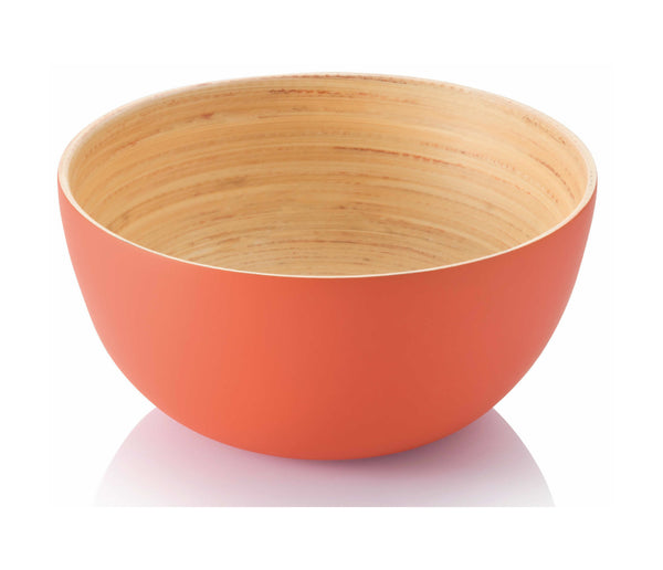 "6"" Bamboo Small Bowl. Burnt Orange"