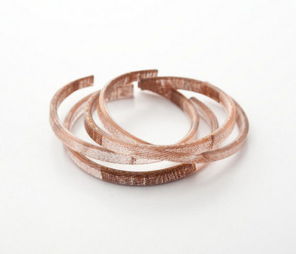 Swept Copper Bangle