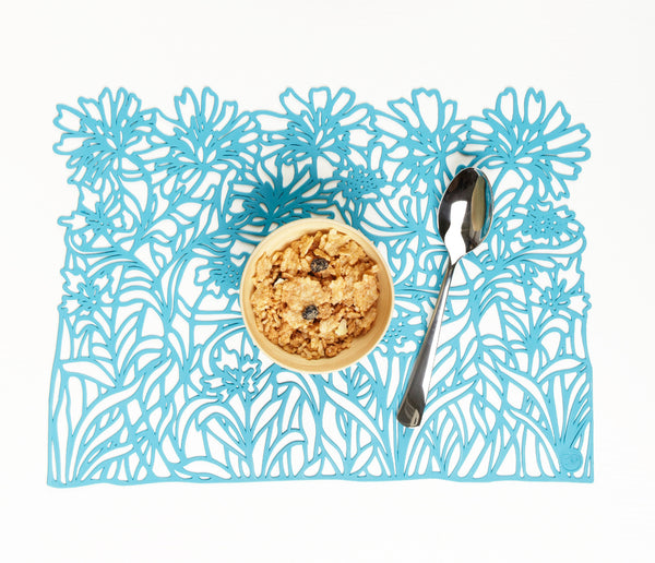 Vegetal Placemat. Cyan. Set of 2