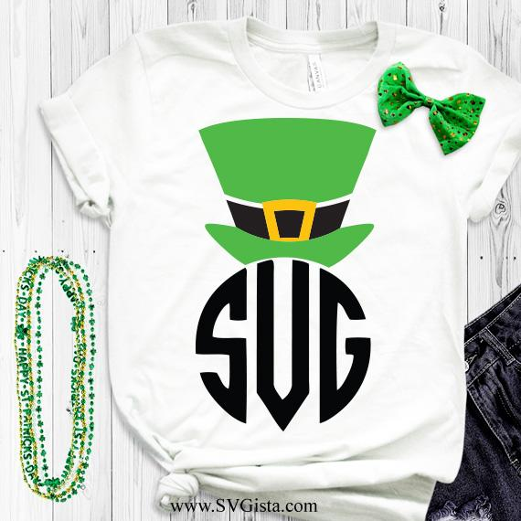 Leprechaun Monogram Hat SVG