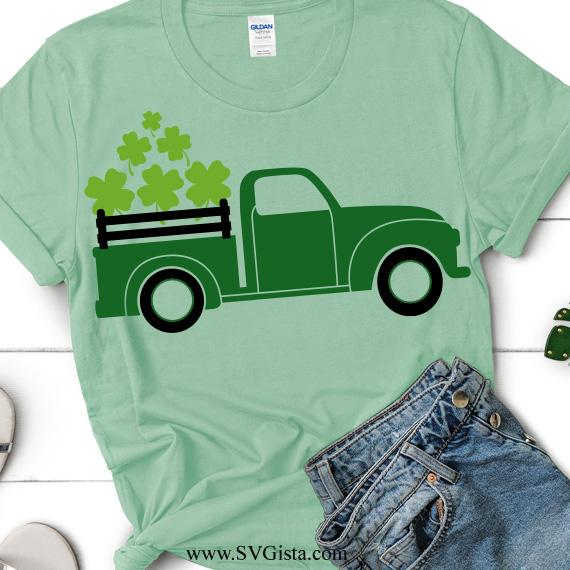 St Patricks Day Truck SVG