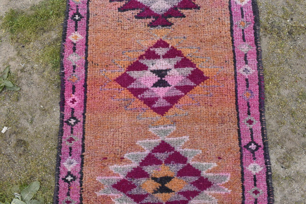 Runner Rug, Turkish Rug, Hallway Rug, Kitchen, Floor , Corridor Rug, Free Shipping 2.11 x 10.5 ft , Herki Rug,Bohemian, Entryway Rug #TR2380