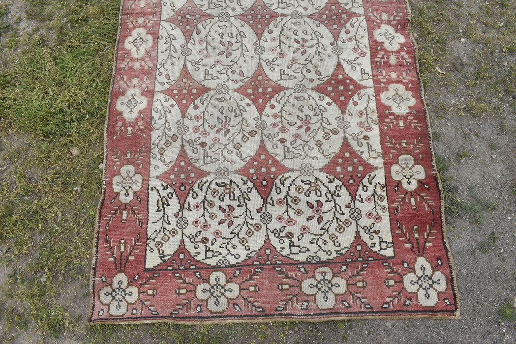 Medium Size Rug, Turkish Rug, Bohemian Rug, Tribal Rug, Floor, Cappadocia Rug, Vintage, Pastel 3.8 x 7.0 ft , Faded Rug, Bohemian #TR2136
