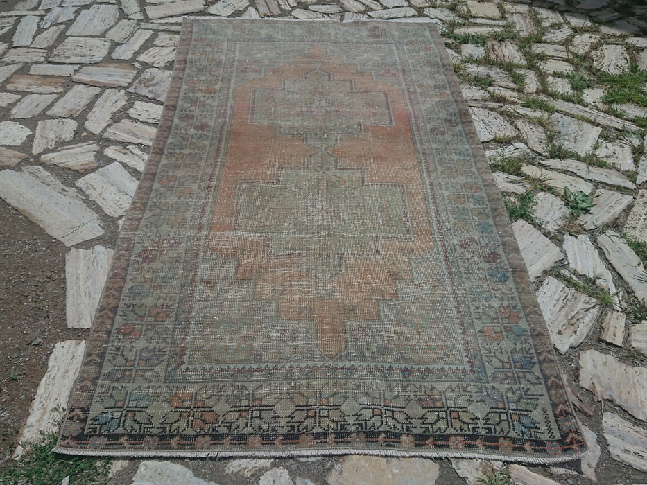 low pile rug, FREE SHIPPING, distressed rug, turkish, 4.3 x 7.8 ft , handknotted rug, turkey rug, area, decorative rug, nomadic rug #TR2913