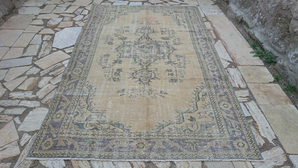 muted room size rug, FREE SHIPPING, living room rug, large rug, 5.4 x 9.0 ft , vintage, oversized rug, cotton rug, tradtional rug #TR2513