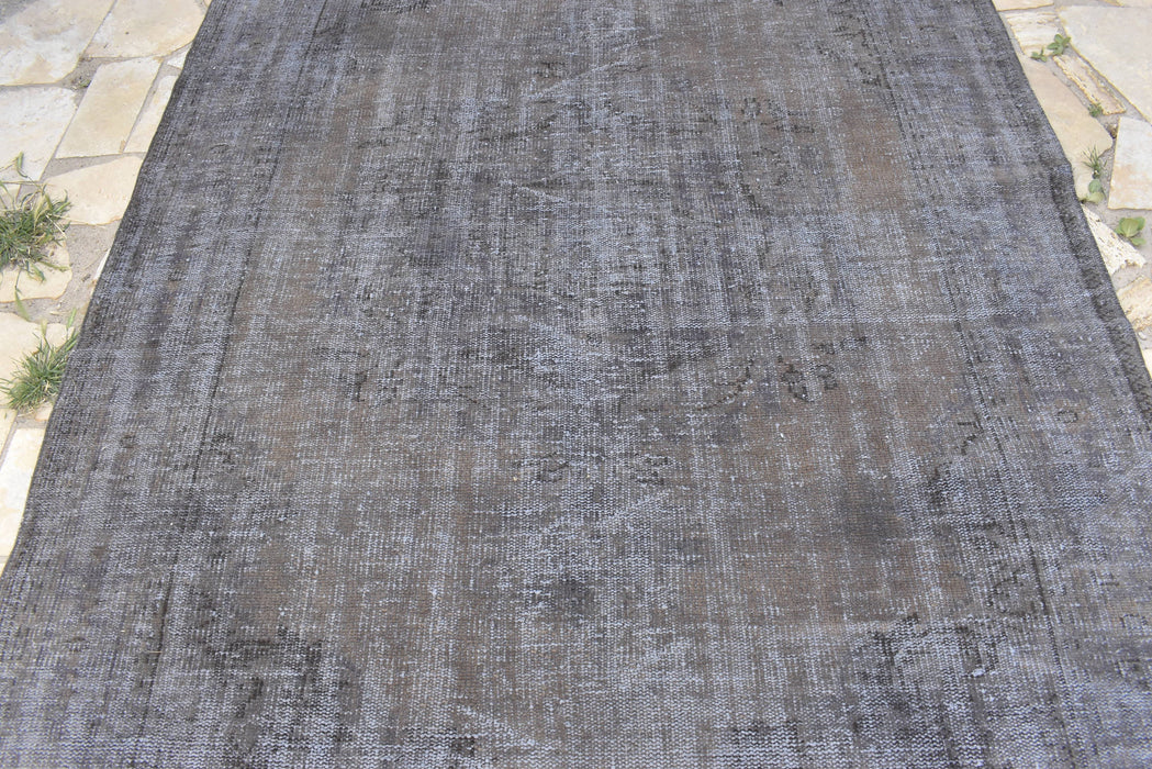 overdyed large rug, black rug, living room rug, 5.10 x 8.9 ft , FREE SHIPPING, saloon rug, unique rug, ethnic rug, cotton rug #TR7463