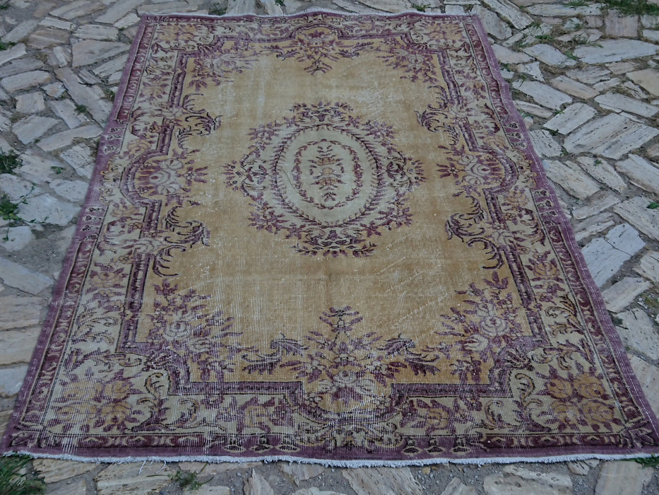 oversize rugs, 5.8 x 8.5 ft, floor rugs, area rugs, large rug, bedroom rug, low pile rug, bohemian rugs, distressed rug, turkish rug #TR7170