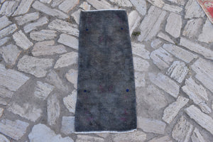 overdyed rugs, small rugs, black rugs, 1.4 x 3.4 ft , Free Shipping, doormat rugs, rug pad, oushak rugs, vintage rugs, bohemian rugs #TR2561