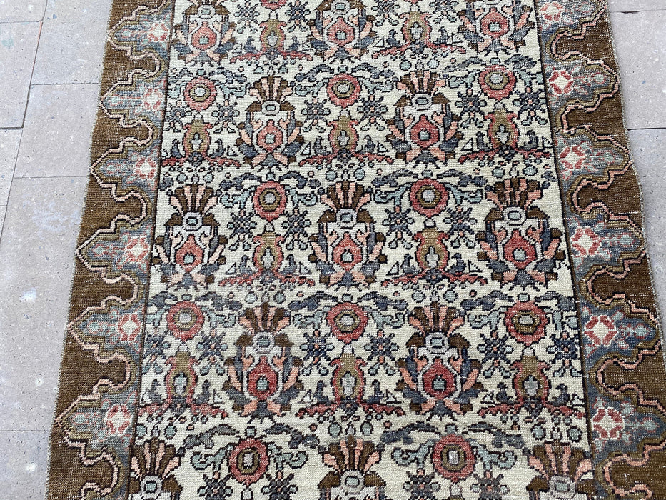 3'9'' x 6'5'' feet , turkish brown rug , handmade carpets , oushak boho rug , area muted rugs , vintage home rug , free shipping rug #TR0894
