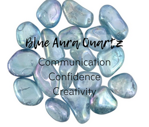 Blue Aura Quartz Tumbled Stone