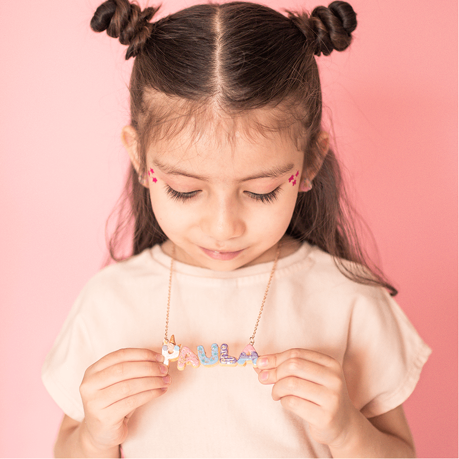 Custom Donut Unicorn Name Necklace