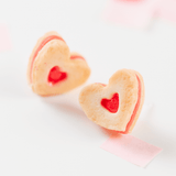 Red Heart Cookie Earrings