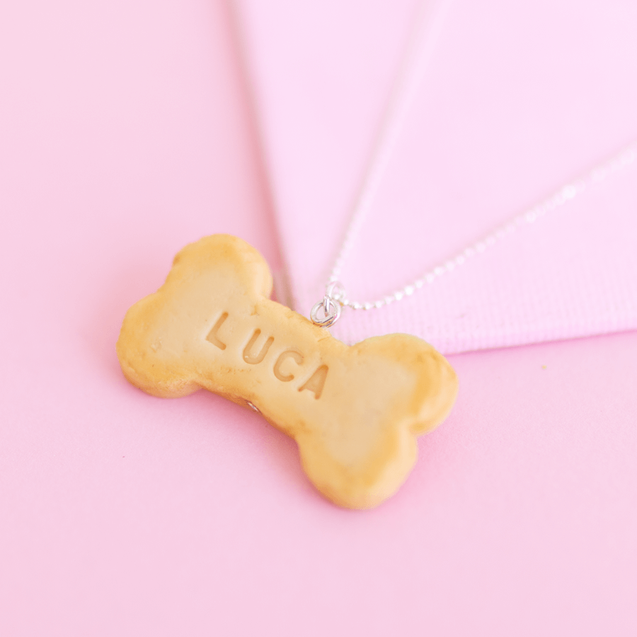 Custom Cookie Pet ID Tag Necklace