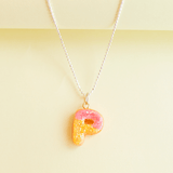 Custom Donut Initial Necklace