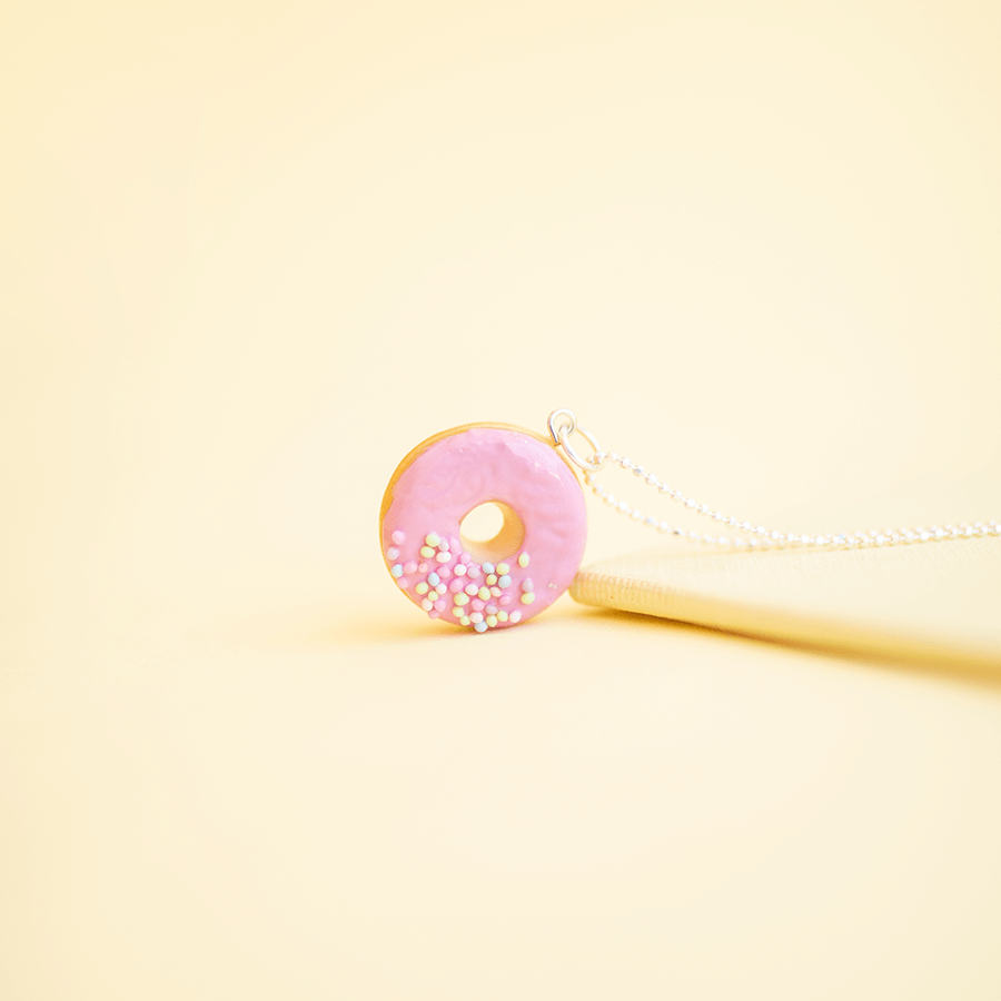 Strawberry Donut Necklace