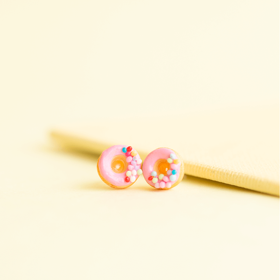 Strawberry Donut Earrings