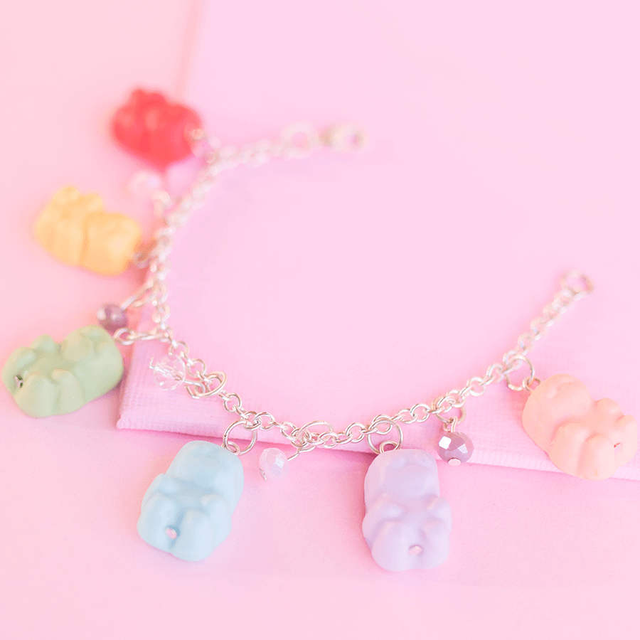 Rainbow Gummy Bears Bracelet