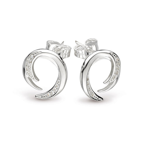 KH St Twine Helix Pave CZ Stud Earrings