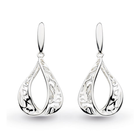 KH Nw Blossom Flourish Teardrop Earrings