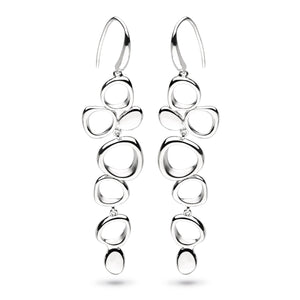 KH Mn Coast Shore Cascade Sandblast Drop Earrings