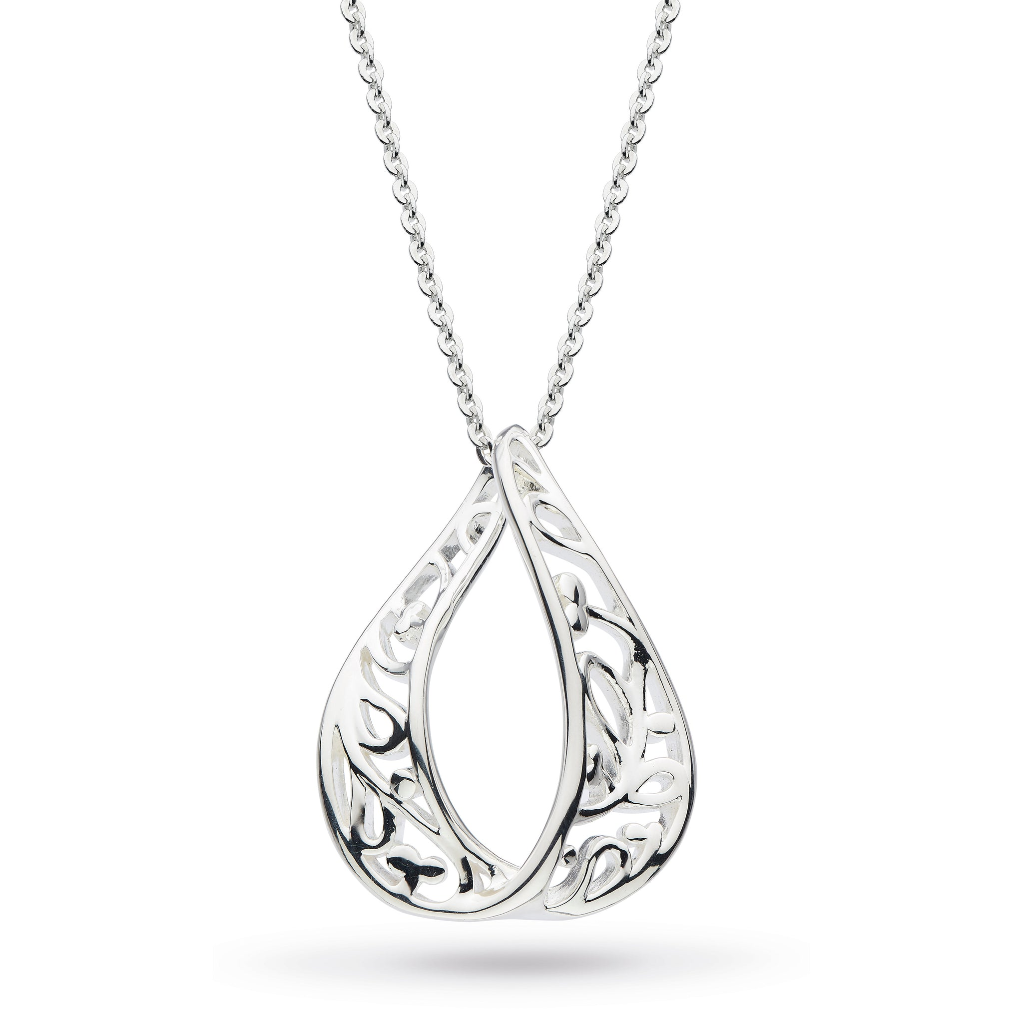 "KH Dro Blossom Flourish Teardrop 18"" Necklace"