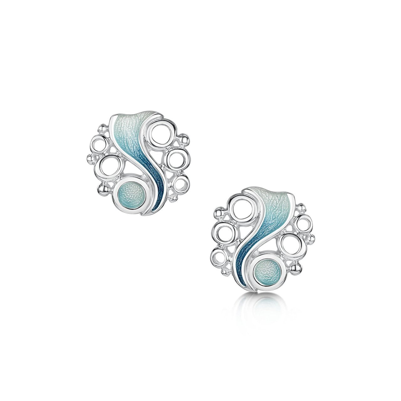 Arctic Stream Stud Earrings