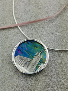 Limited Edition Dichroic Glass St Michael's Church Necklace
