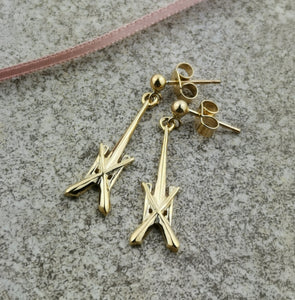 9ct Gold St Michael's Spire earrings