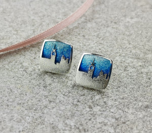 Sterling silver Linlithgow Skyline earrings