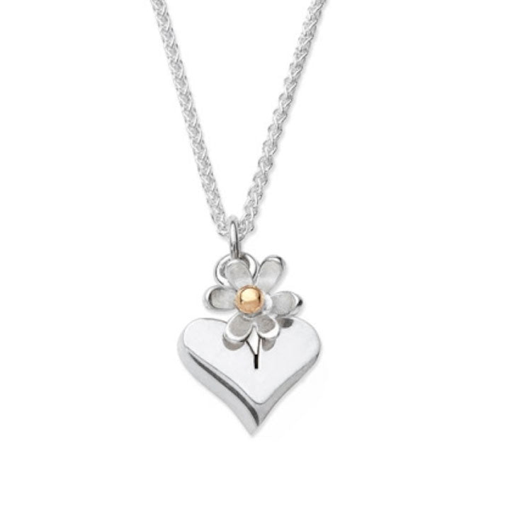 Hearts & Flowers – Heart Necklace