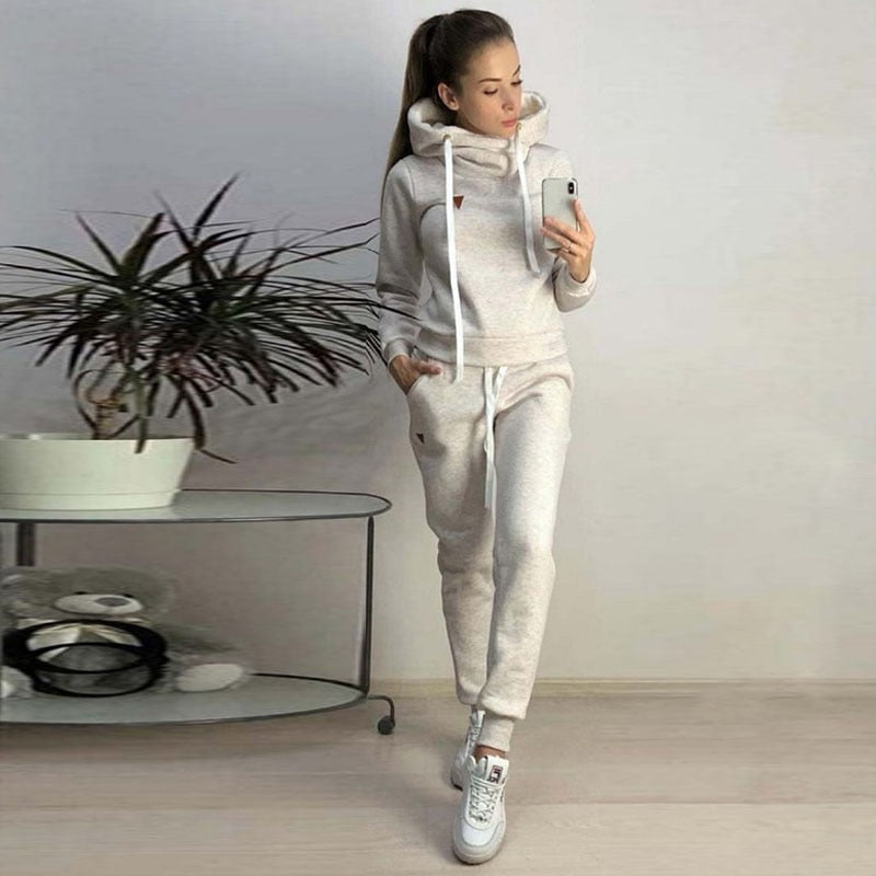 2020 Autumn Spring Women Sets Tracksuit For Women Long Sleeve Hoodie And Pants Two Piece Set Warm Outfits Running Suit