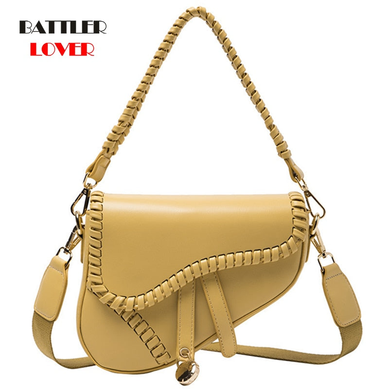 2020 New Style Women Shoulder Crossbody Bag Western Style Square Sling Handbag for Female Envelope Fashion Saddle Bag Fashion