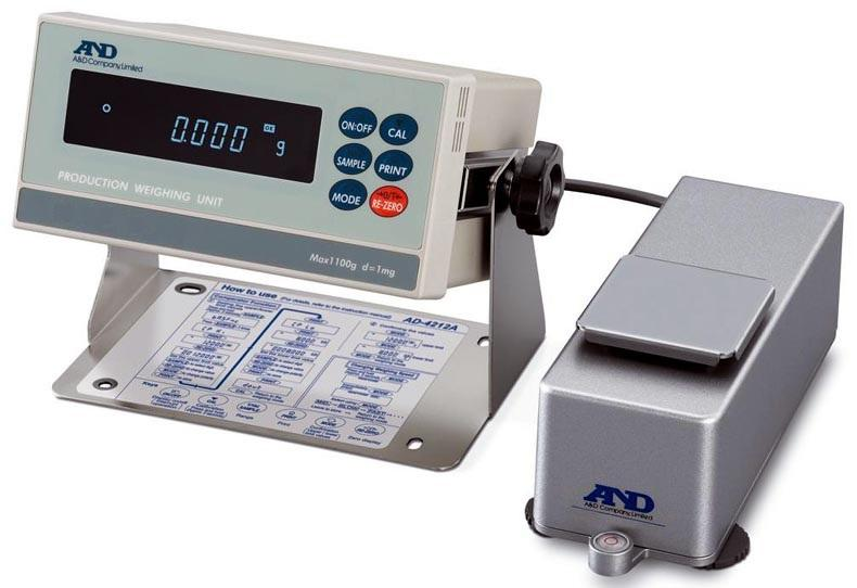 A&D AD-4212B-301 AD-4212B Series Production Weighing System, 310 g Capacity, 0.0001 g Readability