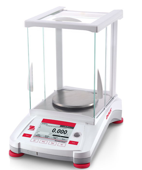Ohaus AX224 Adventurer Analytical Balance, 220 g Capacity, 0.0001 g Readability