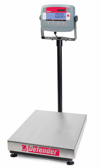 Ohaus D31P150BL Defender 3000 Standard Scale, 1500000 g Capacity, 20 g Readability