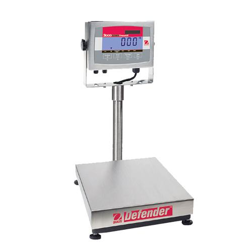 Ohaus D32XW60VR Defender 3000 Stainles Steel Scale, 132000 g Capacity, 10 g Readability