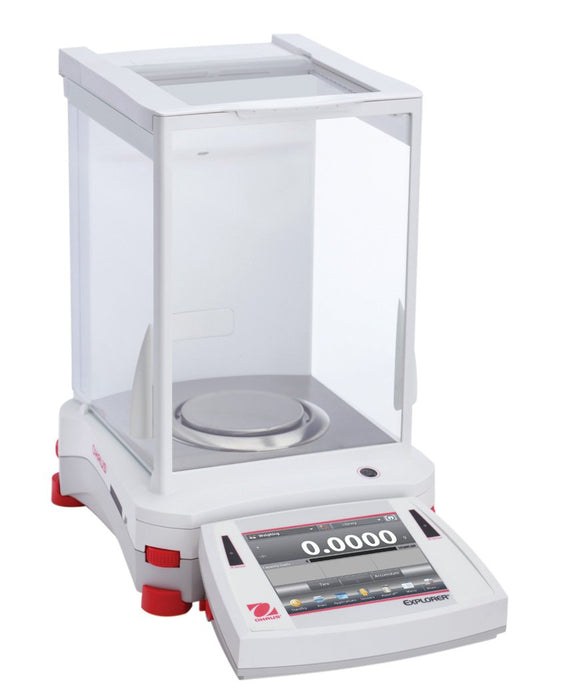 Ohaus EX224N Explorer Analytical Balance, 220 g Capacity, 0.0001 g Readability