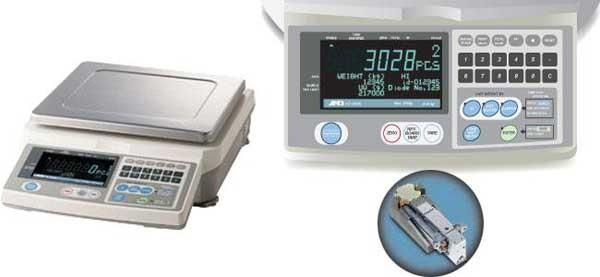 A&D FC-5000i FCi Series Counting Scale -High Resolution, 5000 g Capacity, 0.5 g Readability