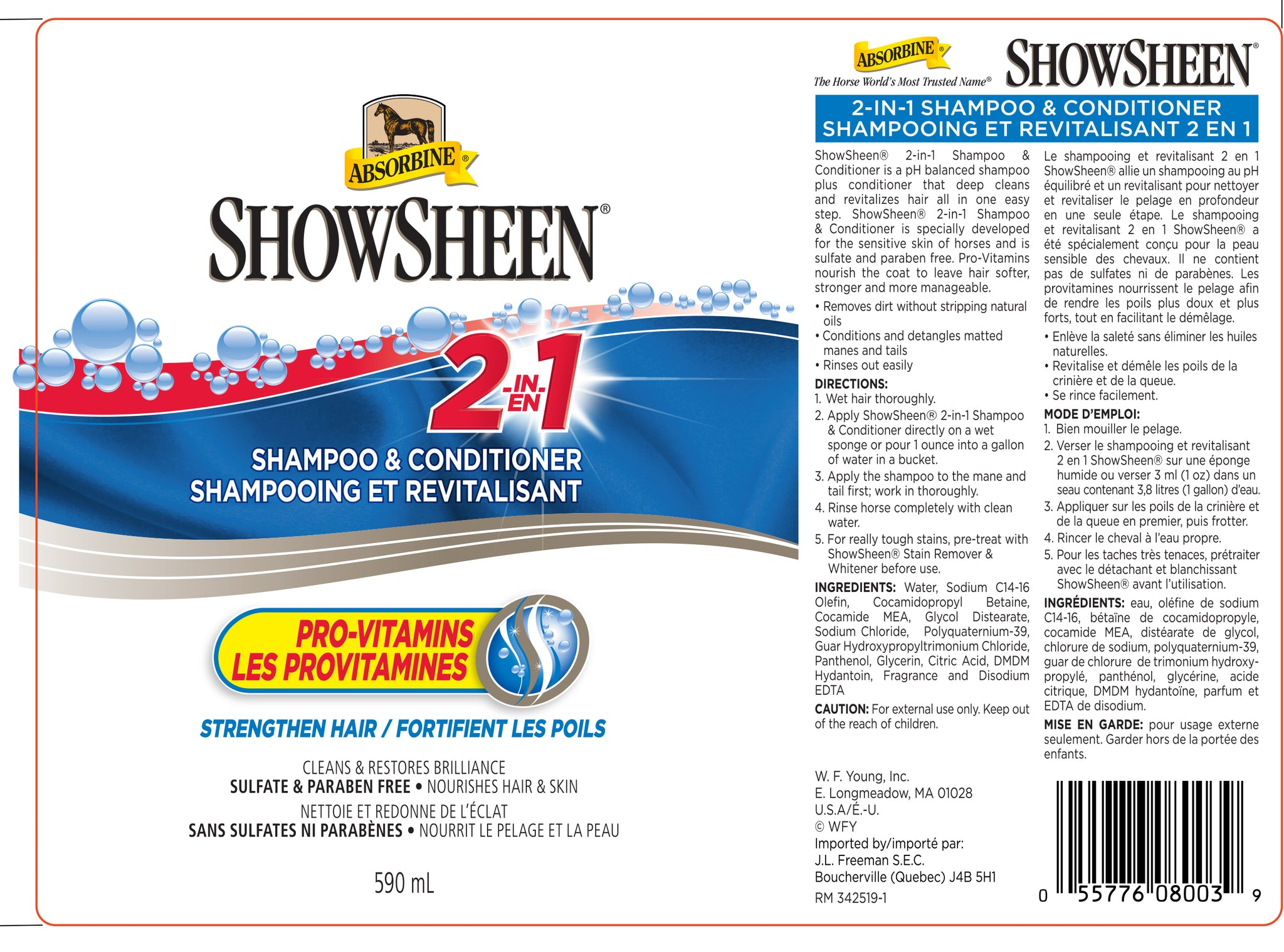 ShowSheen® 2-In-1 Shampoo & Conditioner