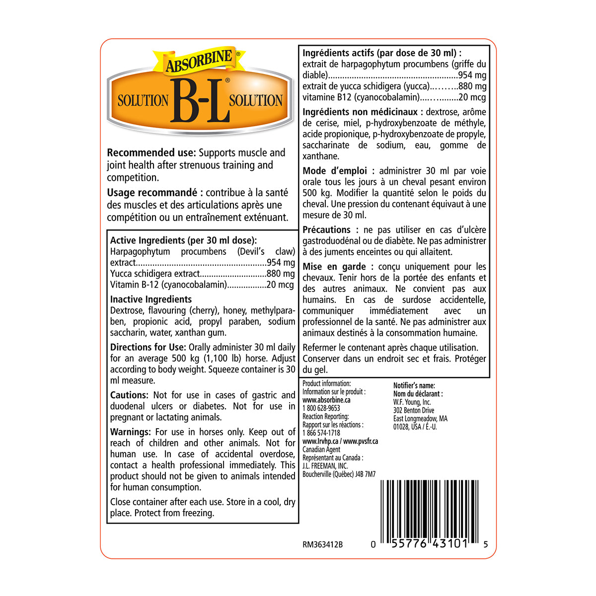 B-L® Comfort & Recovery Supplement
