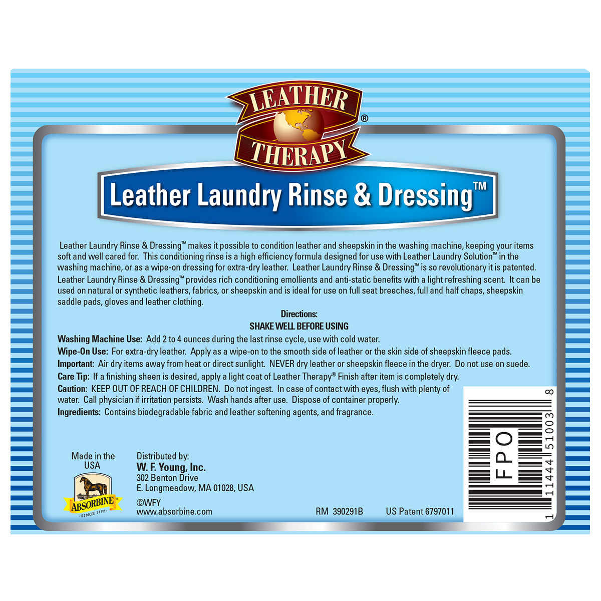 Leather Therapy® Laundry Rinse & Dressing