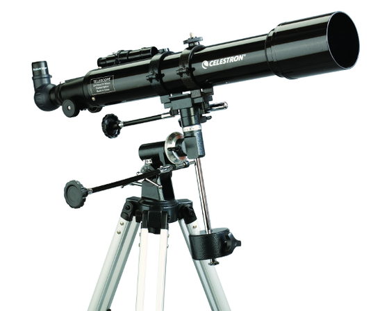 "Celestron Powerseeker 70mm (2.8"") Refractor Telescope on EQ1"