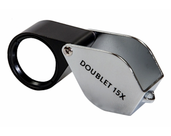 Kite Optics 15x Doublet Pocket Loupe