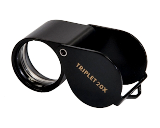Kite Optics 20x Triplet Pocket Loupe