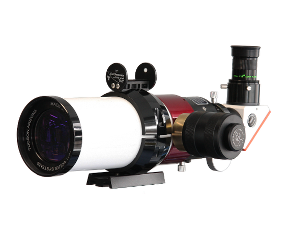 Lunt 60mm Photo/Visual Solar Telescope with B1200 Blocking Filter (single stacked)